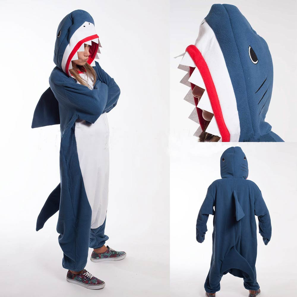 Kigurumi Adult Pyjamas Cosplay Costume Blue Shark Onesie Lemur Sleepwear Homewear Unisex Pajamas Party Clothing For Women Man-in Anime Costumes from Novelty & Special Use on Aliexpress.com | Aliba