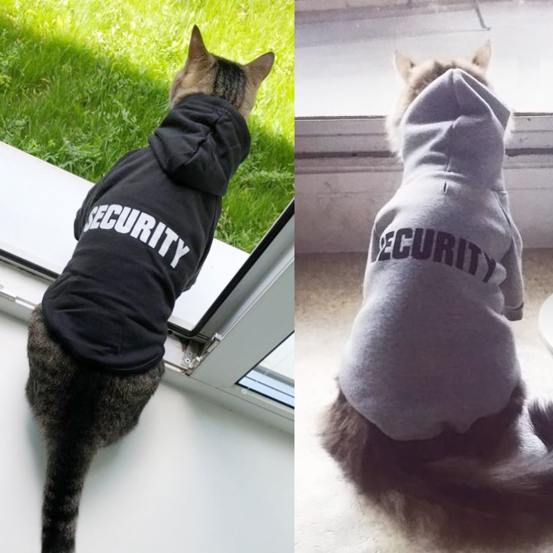 Security Cat Clothes Pet Cat Coats Jacket Hoodies For Cats Outfit Warm Pet Clothing Rabbit Animals Pet Costume for Dogs 20-in Cat Clothing from Home & Garden on Aliexpress.com | Alibaba Group