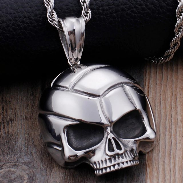 Highly Polished Stainless Steel Gothic Skull Pendants