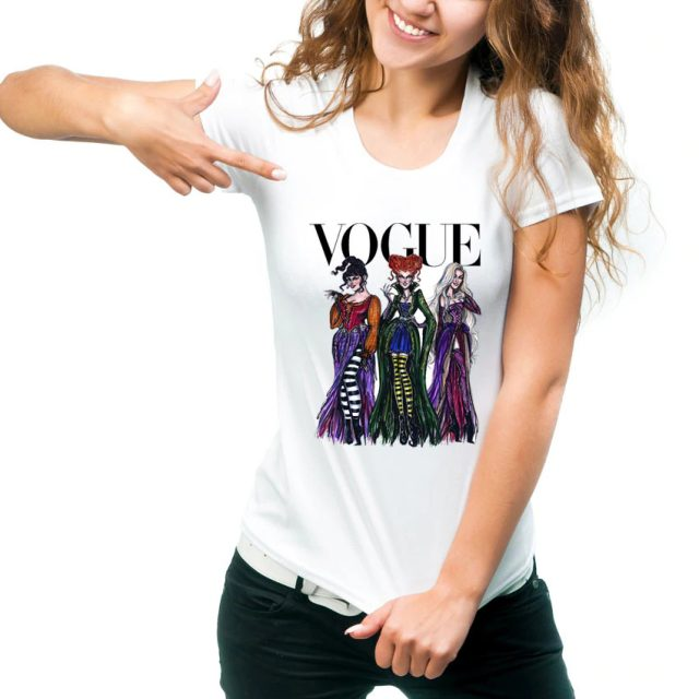 Vogue Hocus Pocus T-Shirt Women Halloween Design