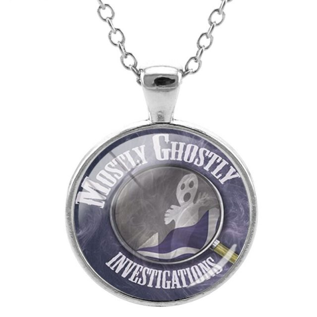 Ghost Necklace Round Pendant